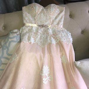Dresses & Skirts - Light pink prom dress, worn once, like NEW!